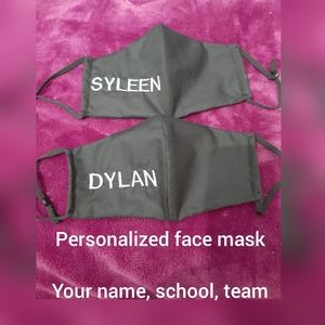 Child, Adult or teen sized masks w/personalized